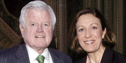 Jennifer Brunner with Ted Kennedy