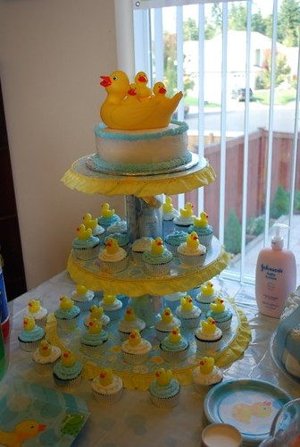 ducky themed baby shower cake flickr photo sharing
