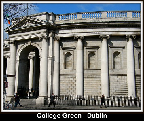 The beautiful College Green Dublin, here is the Bank of Ireland building, which was the former Parliament building! Enjoy the history, present and the future!:)