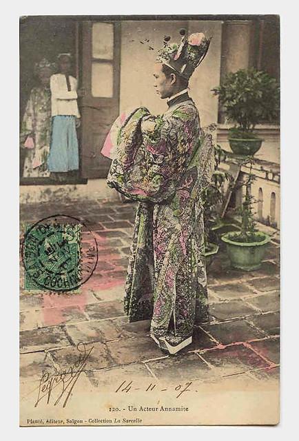 SAIGON, 1907 - Un acteur annamite