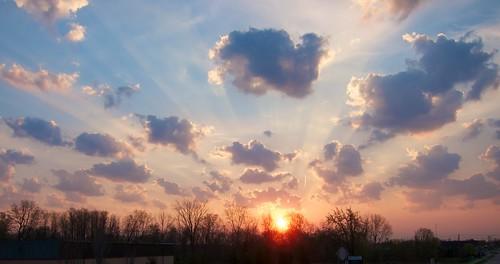 sky sun clouds sunrise rays crepuscular project365