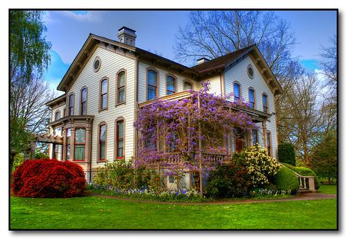 oregon spring historic salem hdr wisteria bushhouse bushspasturepark