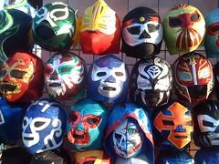 helmet(0.0), hockey protective equipment(0.0), personal protective equipment(0.0), ball(0.0), football--equipment and supplies(0.0), clothing(0.0), football helmet(0.0), sports equipment(0.0), games(0.0), wrestling(0.0), goaltender mask(0.0), costume(0.0), ball(0.0), headgear(0.0), lucha libre(1.0), mask(1.0),