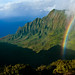 Rainbow over Kalalau Valley