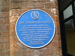 Photo of Church Institute, Leeds and British Deaf Association blue plaque