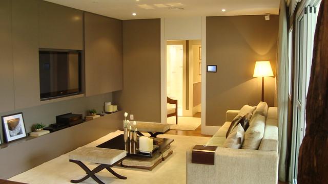 Apartamento decora o sala living flickr photo for Apartamentos decorados pequenos