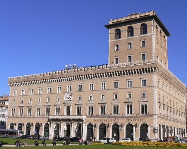 Roma palazzo delle assicurazioni generali a piazza venez - Architetto palazzo congressi roma ...