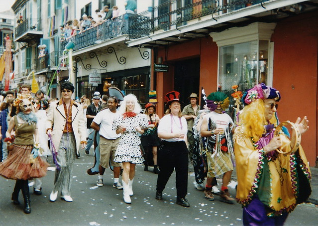 French Quarter Mardi Gras by CC user infrogmation on Flickr