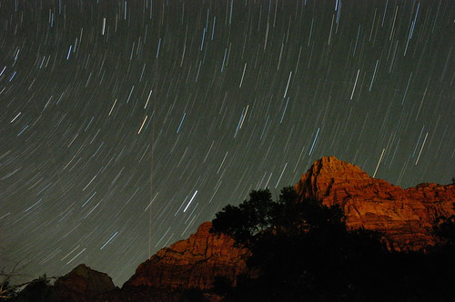 Star trails over Zion | by kmswoodworks