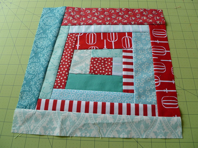 Red & Aqua 2 June Block #1