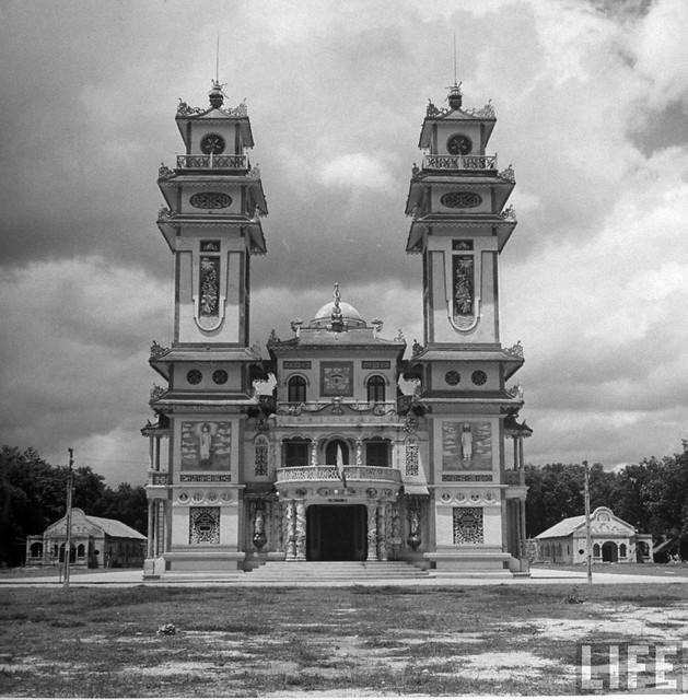 July 1948 - Caodaist oratory for observing a Caodist service.