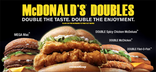 Mcdonald 39 s doubles double the taste double the for Mcdonald s filet o fish price