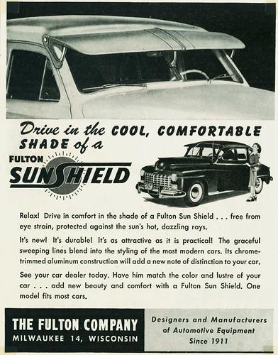 ... 1947 Fulton Sun Shield Aluminum Sun Visor  dc05b15ad14