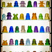 Rainbow Colors of Glass Insulators