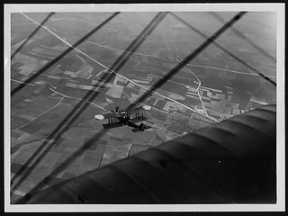 Our aeroplanes making a flight over the German lines to take observation of the enemy's movements