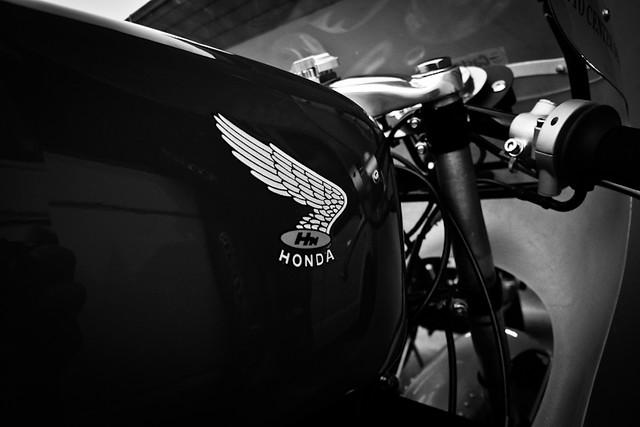 Cafe Racer Motorrad Helm Retro