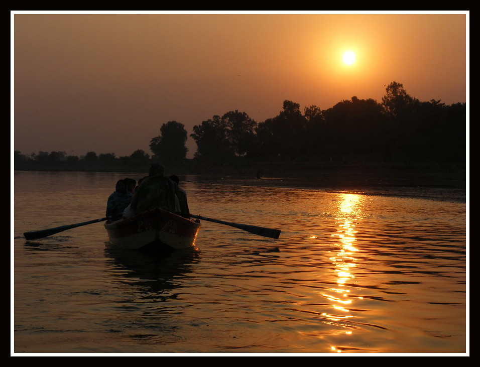 A BEAUTIFUL SUNSET AT RIVER RAVI, LAHORE,PAKISTAN