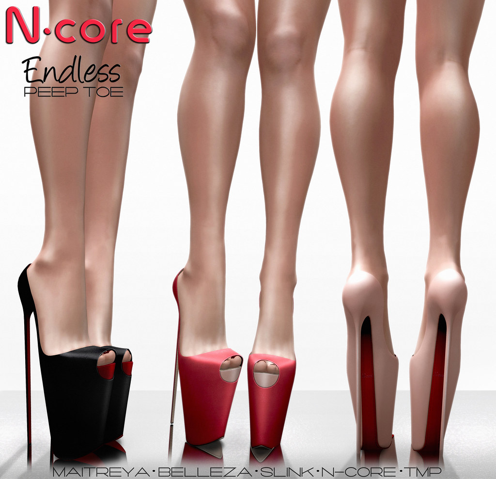 "N-core ENDLESS ""Peep Toe"" @ FaMESHed (Coming tomorrow, July 1st ) - SecondLifeHub.com"