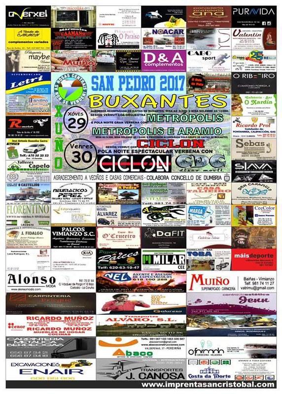 Dumbría 2017 - Festas de San Pedro en Buxantes - cartel