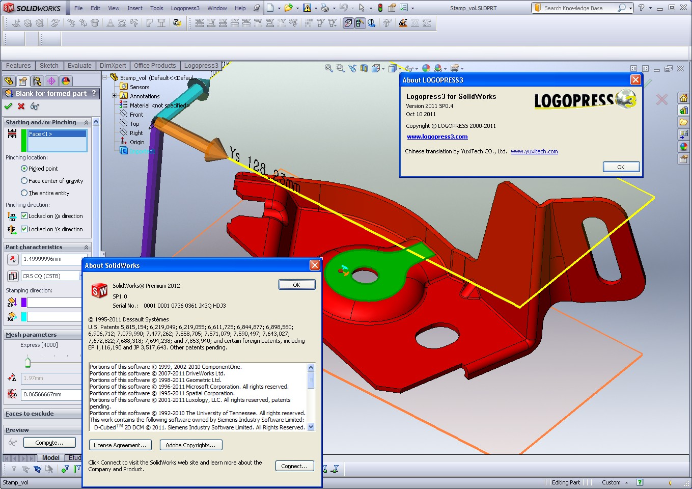 Working with Logopress3 2011 SP0.4 for SolidWorks 2010-2012 full
