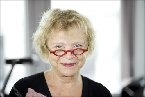 Portrait of anti-corruption Magistrate turned MEP Eva Joly.