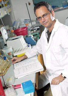 Dr. Georgiou in his lab