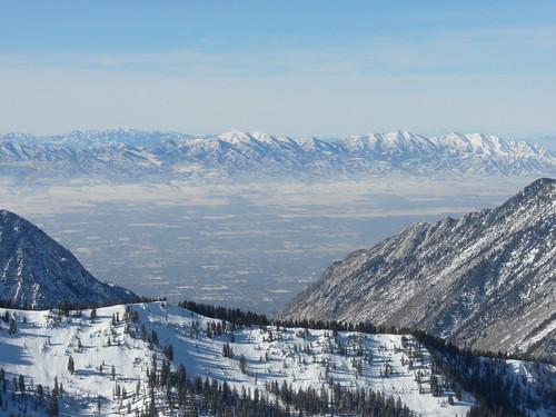 A View of Salt Lake City, Utah, from the Peak of Snowbird Ski Resort