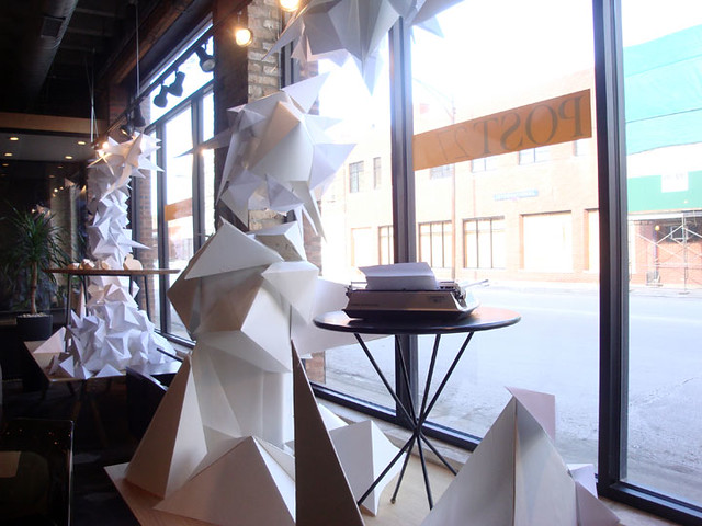 recycled window displays