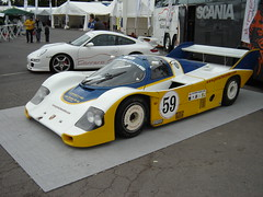 porsche 910(0.0), porsche 907(0.0), open-wheel car(0.0), ford gt40(0.0), porsche 906(0.0), race car(1.0), automobile(1.0), group c(1.0), vehicle(1.0), porsche(1.0), sports prototype(1.0), porsche 962(1.0), land vehicle(1.0), supercar(1.0), sports car(1.0),