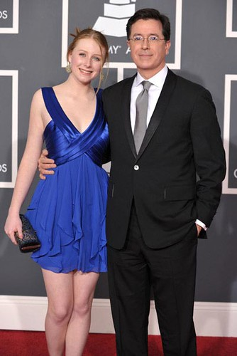 stephen colbert and daughter madeline at the 2010 grammy
