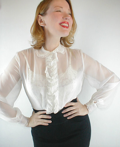 White Sheer Blouse | Fashion Ql