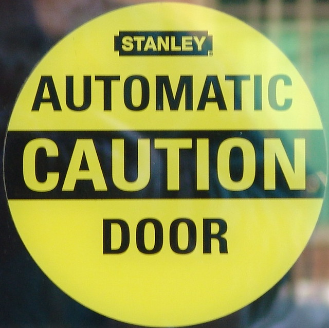 Automatic caution door flickr photo sharing