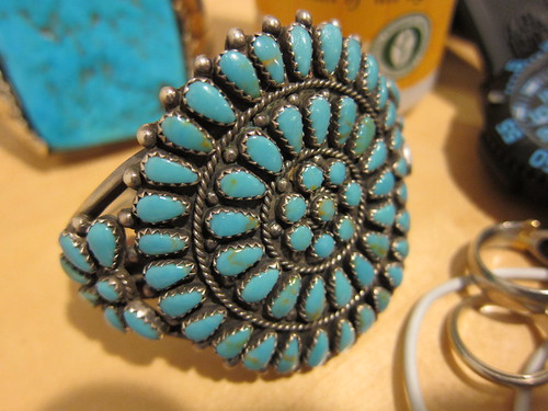 Navajo, turquoise, silverwork, tear drop IMG_0024