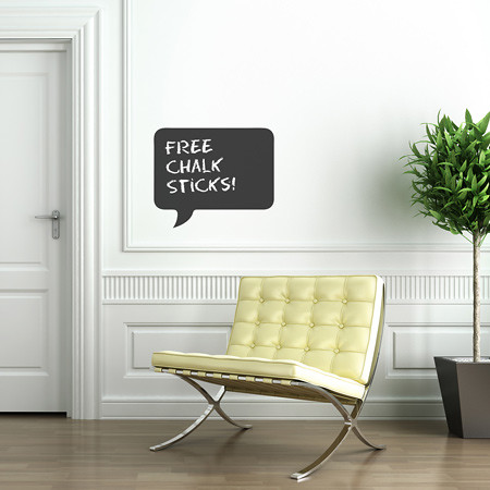 Speech Chalkboard / Blackboard Wall Sticker - by Spin Collective