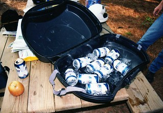 The beer cooler!