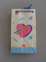 Sanrio vintage little paper bag Hearts  1987