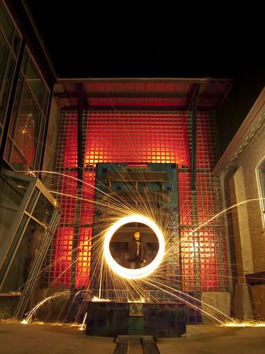 lightpainting reflection water austin texas sparklers orbs lapp