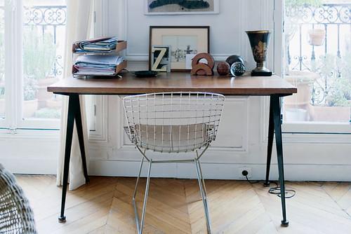 bertoia + desk