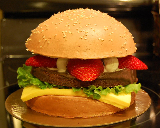 Hamburger Birthday Cake  Flickr - Photo Sharing!