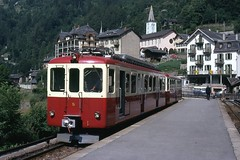 Trains du Martigny Chatelard Chamonix (Suisse France)