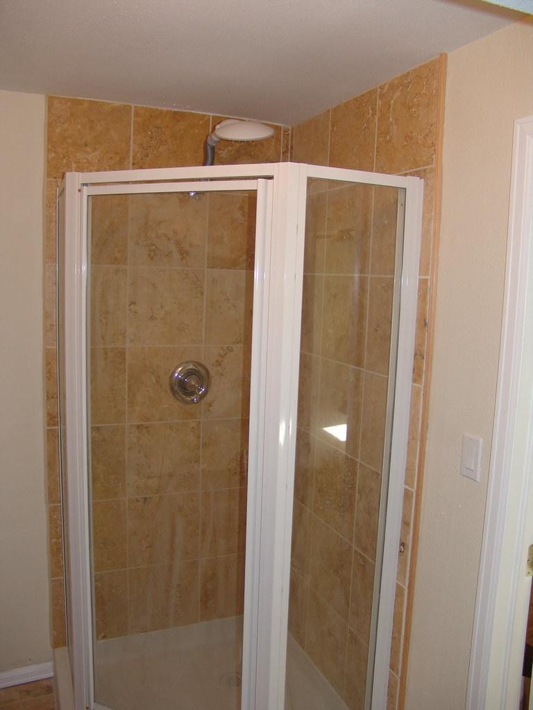 Travertine Marble in Shower Enclosure