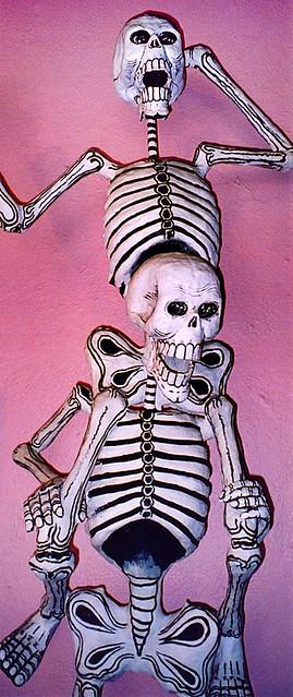 festive skeletons