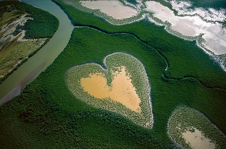 Heart in Voh, New Caledonia (French Overseas Territory)
