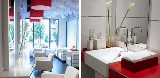 White Beauty Salon Interior Design