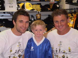 Dylan meets Tim Brown and Ben Sigmund from the All Whites