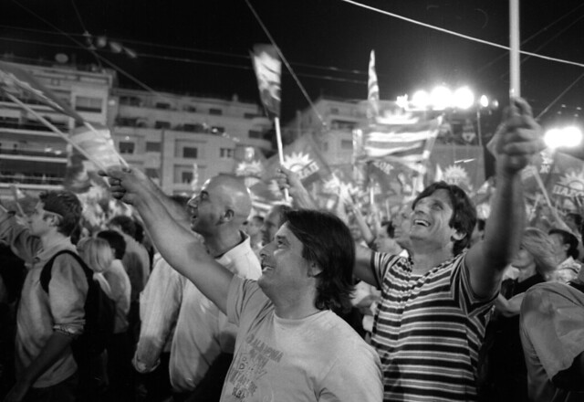 Greek Election Rally, From ImagesAttr