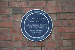 Photo of Charles Knight blue plaque