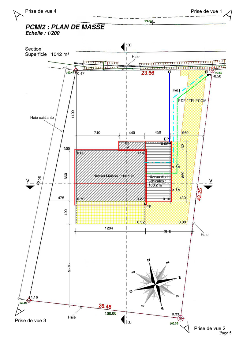 Le busage du foss la triskeline - Plan de masse cote dans les 3 dimensions ...
