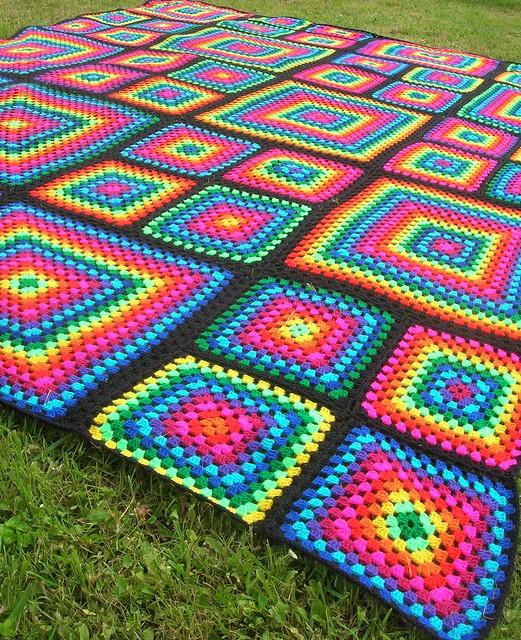 Mosaic Crochet Afghan Pattern : Rainbow Mosaic Crochet Afghan Flickr - Photo Sharing!