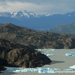 Icebergs Floating Along - Torres del Paine National Park, Chile